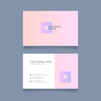 Cartões de visitas pastel simplistas do inclinação