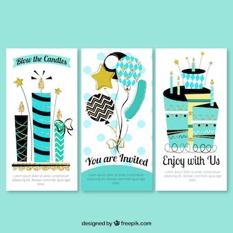 Cartões do aniversário