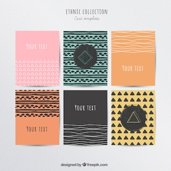 Cartões étnicos coleção