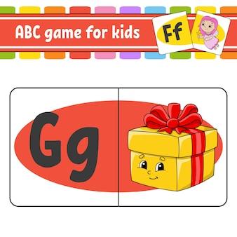 Cartões flash abc. alfabeto para crianças. aprender letras.