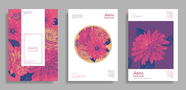 Cartões florais do convite do casamento
