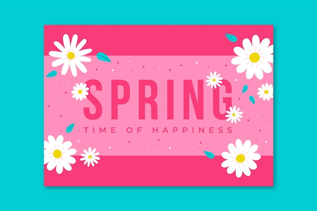 Cartões florais minimalistas da primavera