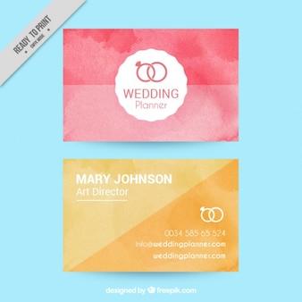 Cartões no efeito da aguarela para o casamento