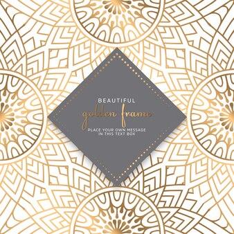 Cartões ou convites com padrão de mandala