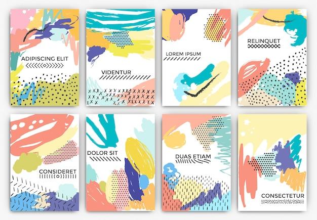 Cartões pintados artísticos