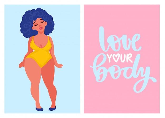 Cartões positivos do corpo.