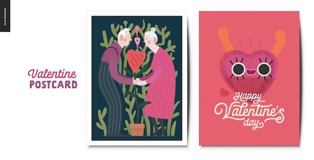Cartões postais para namorados