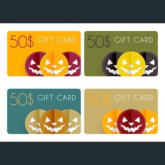 Cartões-presente de halloween