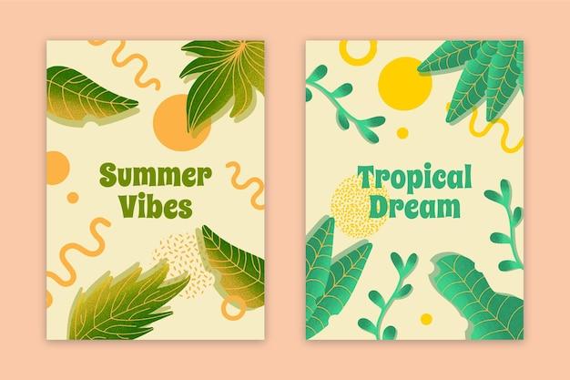 Cartões tropicais do sonho das vibrações abstratas do verão