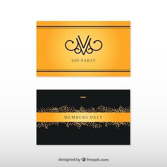 Cartões vip com design dourado exclusivo