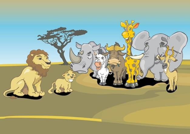 Cartoon animais africano