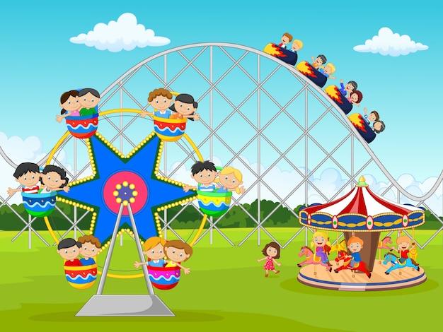 Cartoon criança no festival de carnaval