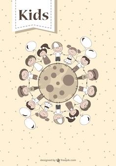 Cartoon crianças gráfico Vetor grátis