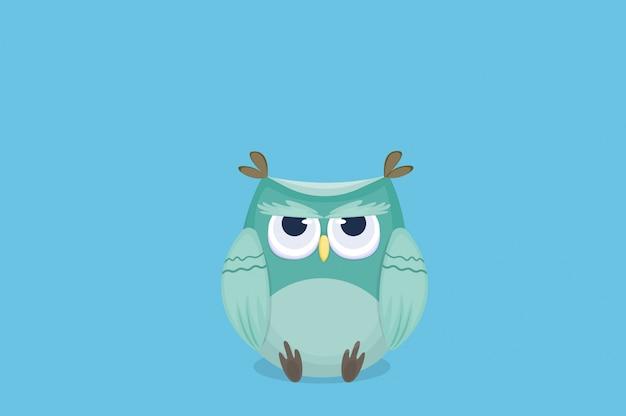 Cartoon cute owl está sob estresse