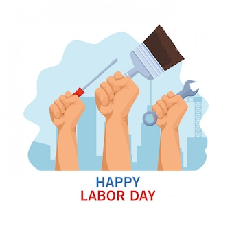 Cartoon de celebração do eua do dia do trabalho