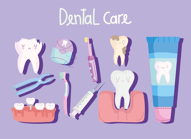 Cartoon de cuidados dentários