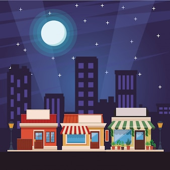 Cartoon de loja de compras