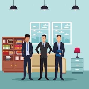 Cartoon executivo de negócios