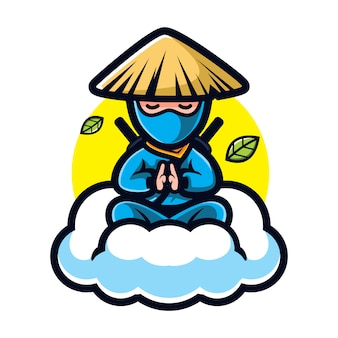 Cartoon ninja guru