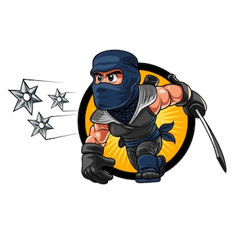 Cartoon ninja shuriken