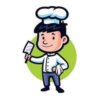 Cartoon pequeno chef