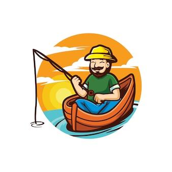 Cartoon pesca e aventura