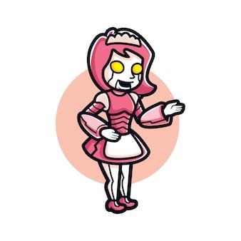 Cartoon robotic maid