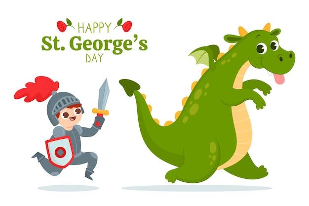 Cartoon st. ilustração do dia de george