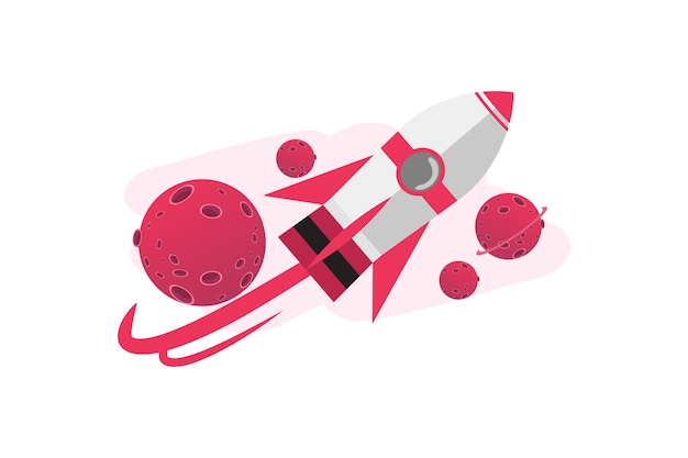 Cartunista 3d foguete