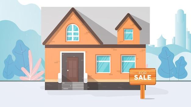 Casa à venda. para sinal de venda. conceito de venda de casa e imóveis.