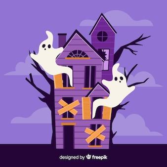 Casa abandonada com fantasmas
