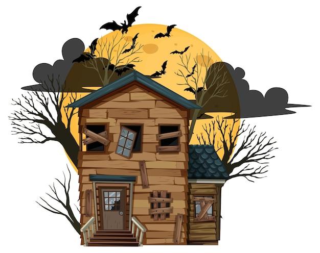 Casa abandonada de halloween isolada
