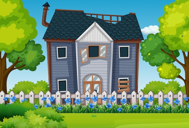 Casa antiga com lindo jardim