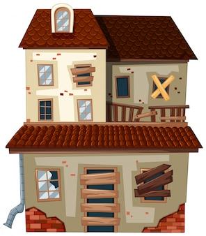 Casa antiga com telhado vermelho