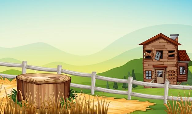 Casa antiga no campo