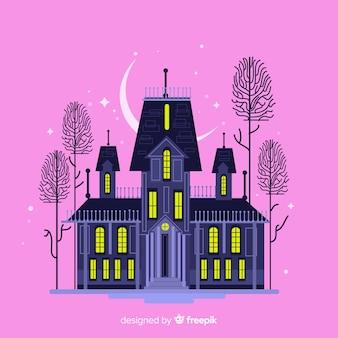 Casa assombrada com design plano