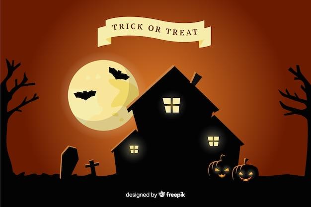 Casa assombrada halloween fundo