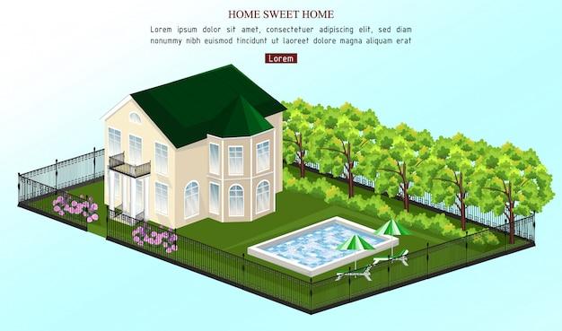 Casa branca com piscina ao ar livre