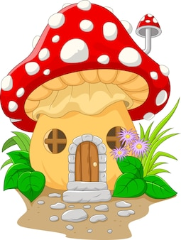 Casa cogumelo dos desenhos animados