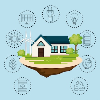 Casa com salvar o ícone do mundo