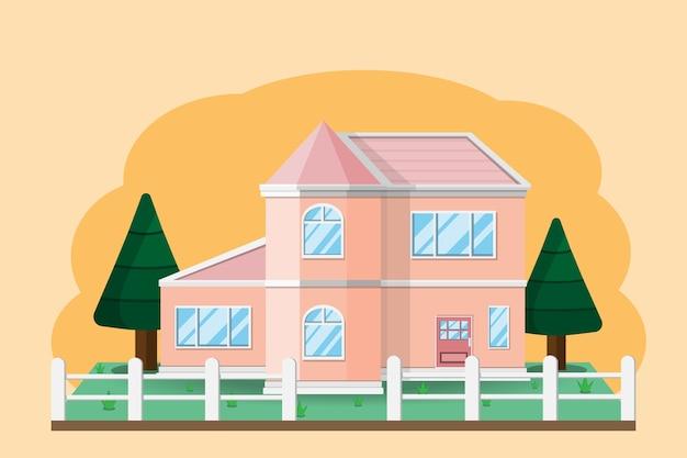 Casa construção de casas com jardim