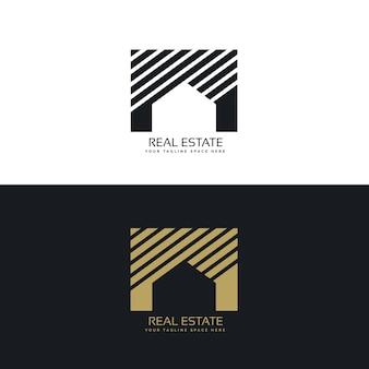 Casa criativa ou conceito de design de logotipo imobiliário