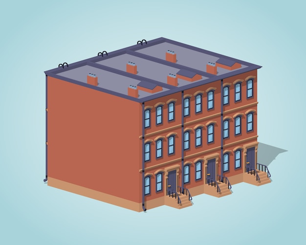 Casa da cidade de brownstone