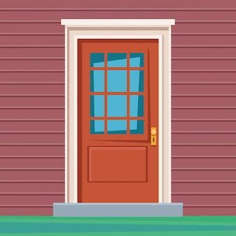 Casa da porta da frente entrar ícone