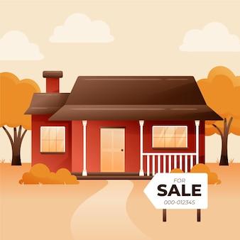 Casa de aldeia à venda com placa