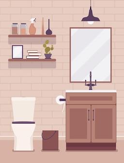 Casa de banho com interiores e design modernos