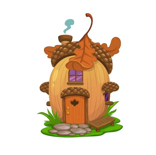 Casa de bolota de carvalho fada, morada de elfo ou gnomo