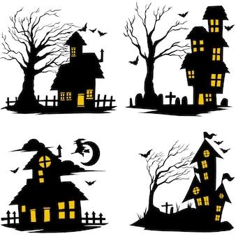 Casa de bruxa de halloween
