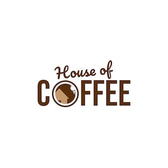 Casa de café de logotipo
