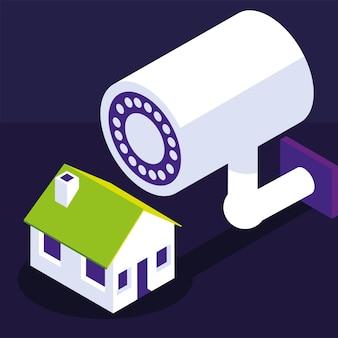 Casa de câmeras de vigilância